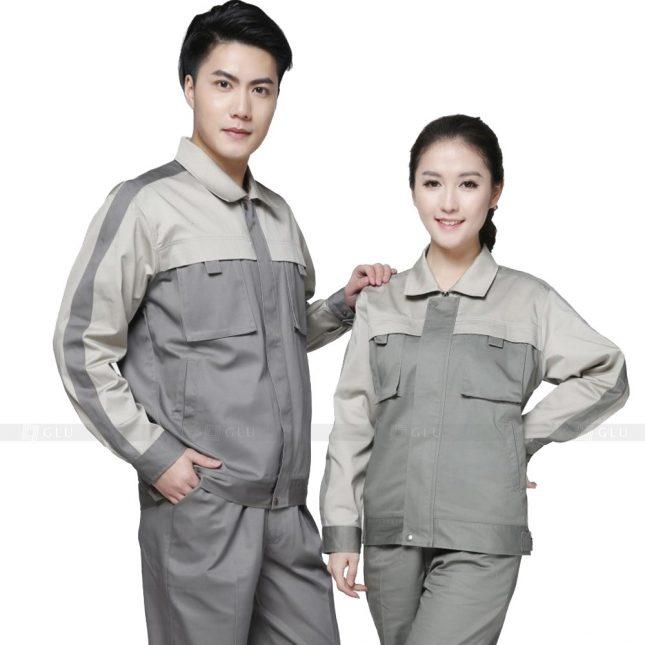 Quan ao dong phuc bao ho GLU X271 đồng phục công nhân xây dựng