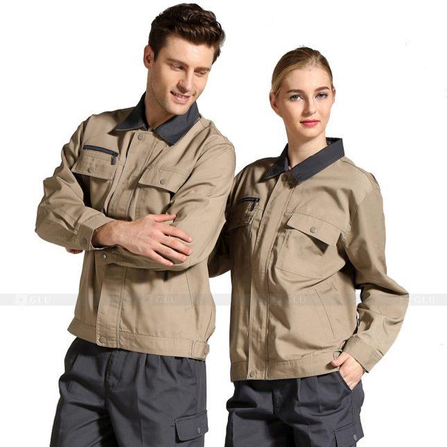 Quan ao dong phuc bao ho GLU X276 đồng phục công nhân xây dựng
