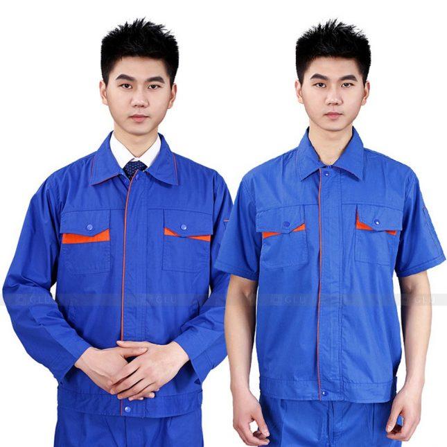 Quan ao dong phuc bao ho GLU X281 đồng phục công nhân xây dựng