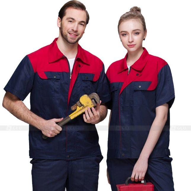 Quan ao dong phuc bao ho GLU X282 đồng phục công nhân xây dựng