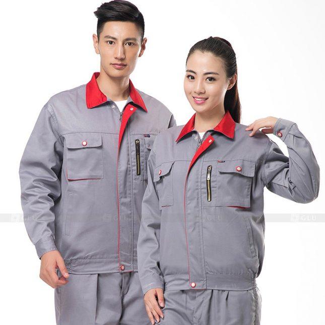 Quan ao dong phuc bao ho GLU X285 đồng phục công nhân xây dựng
