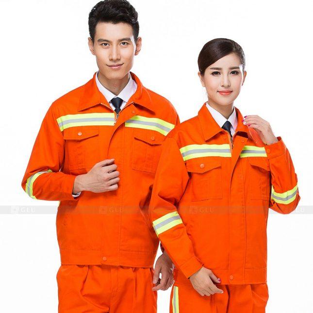 Quan ao dong phuc bao ho GLU X286 đồng phục công nhân xây dựng