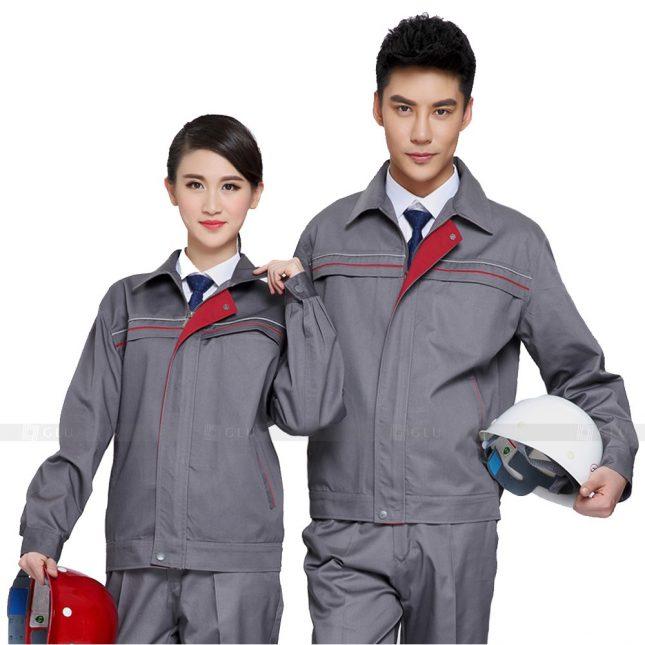 Quan ao dong phuc bao ho GLU X296 đồng phục công nhân xây dựng