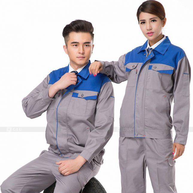 Quan ao dong phuc bao ho GLU X300 đồng phục công nhân xây dựng