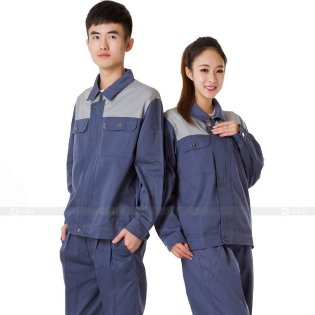 Quan ao dong phuc bao ho GLU X302 đồng phục công nhân xây dựng