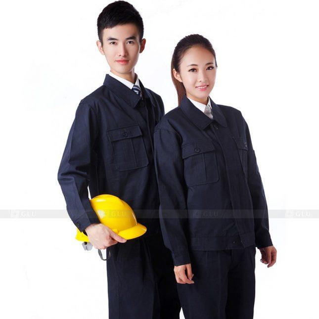 Quan ao dong phuc bao ho GLU X306 đồng phục công nhân xây dựng