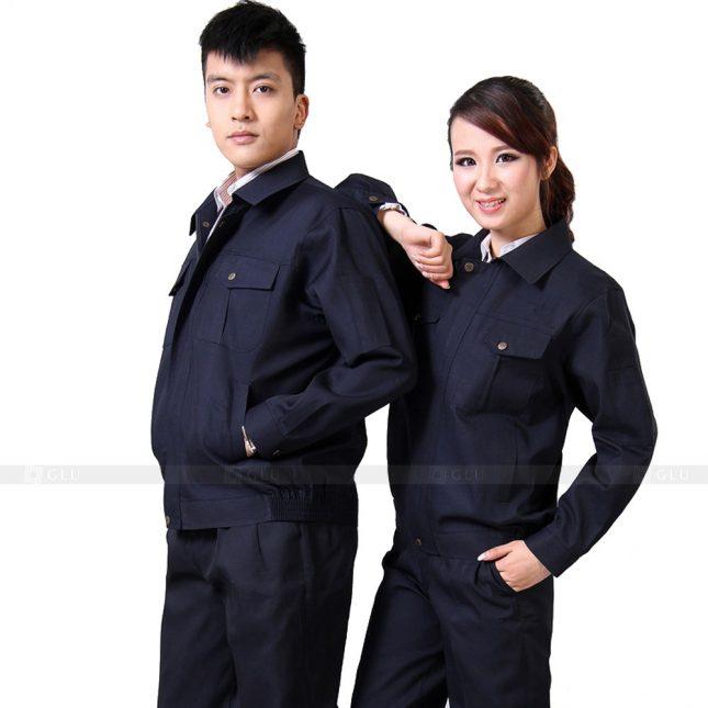 Quan ao dong phuc bao ho GLU X318 đồng phục công nhân xây dựng