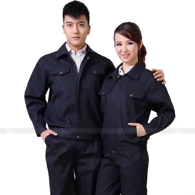Quan ao dong phuc bao ho GLU X319 đồng phục công nhân xây dựng