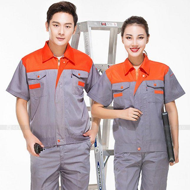 Quan ao dong phuc bao ho GLU X323 đồng phục công nhân xây dựng