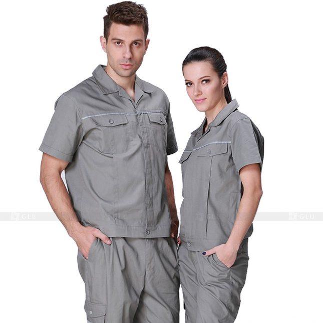 Quan ao dong phuc bao ho GLU X326 đồng phục công nhân xây dựng