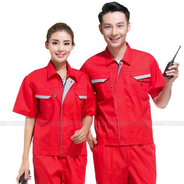 Quan ao dong phuc bao ho GLU X328 đồng phục công nhân xây dựng