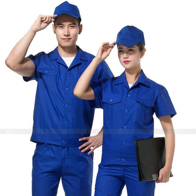 Quan ao dong phuc bao ho GLU X333 đồng phục công nhân xây dựng