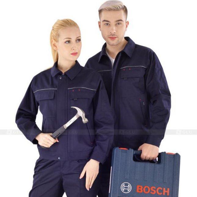 Quan ao dong phuc bao ho GLU X336 đồng phục công nhân xây dựng