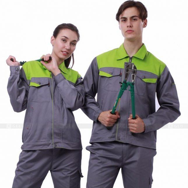 Quan ao dong phuc bao ho GLU X341 đồng phục công nhân xây dựng