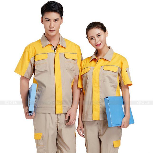 Quan ao dong phuc bao ho GLU X346 đồng phục công nhân xây dựng