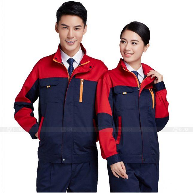 Quan ao dong phuc bao ho GLU X347 đồng phục công nhân xây dựng