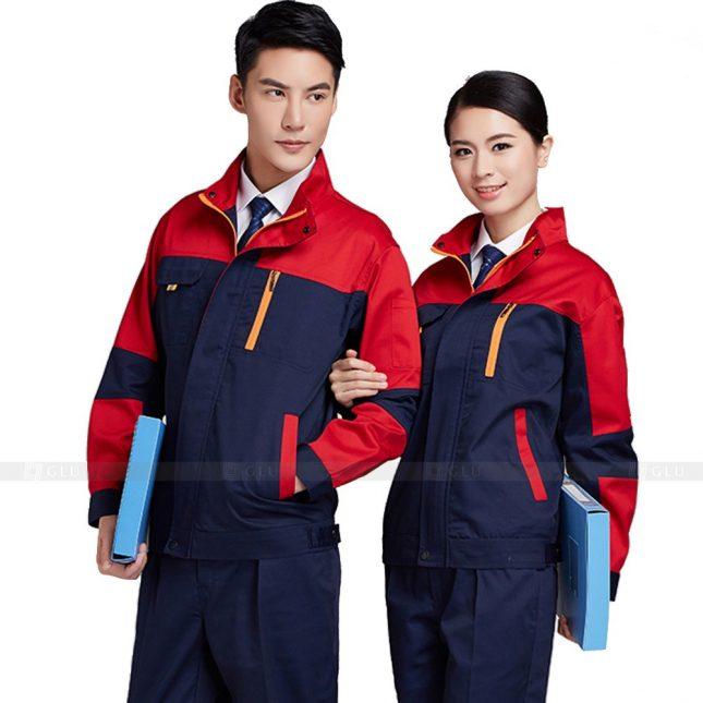 Quan ao dong phuc bao ho GLU X349 đồng phục công nhân xây dựng