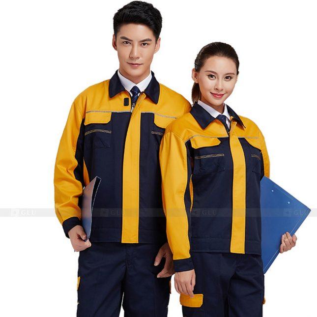 Quan ao dong phuc bao ho GLU X351 đồng phục công nhân xây dựng
