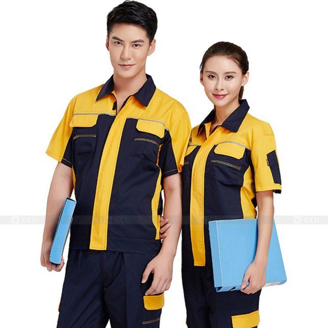 Quan ao dong phuc bao ho GLU X353 đồng phục công nhân xây dựng