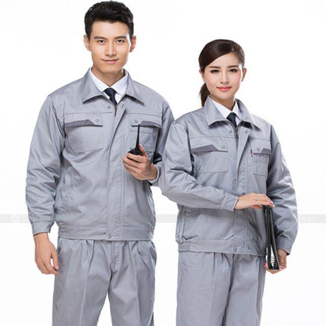 Quan ao dong phuc bao ho GLU X358 đồng phục công nhân xây dựng