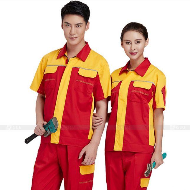 Quan ao dong phuc bao ho GLU X360 đồng phục công nhân xây dựng