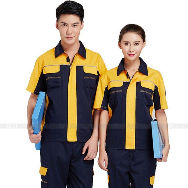 Quan ao dong phuc bao ho GLU X362 đồng phục công nhân xây dựng