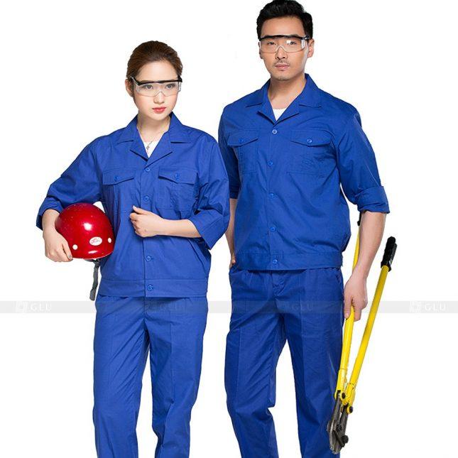 Quan ao dong phuc bao ho GLU X366 đồng phục công nhân xây dựng