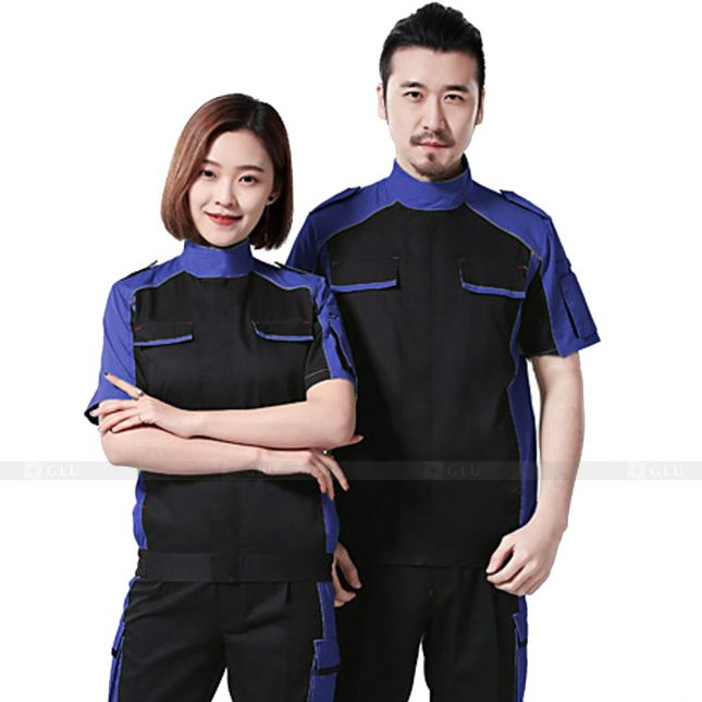 Quan ao dong phuc bao ho GLU X367 đồng phục công nhân xây dựng