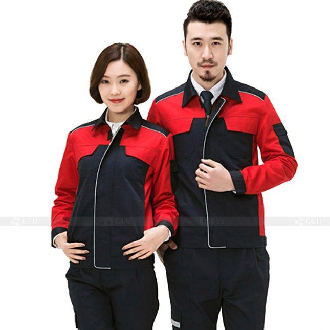 Quan ao dong phuc bao ho GLU X369 đồng phục công nhân xây dựng