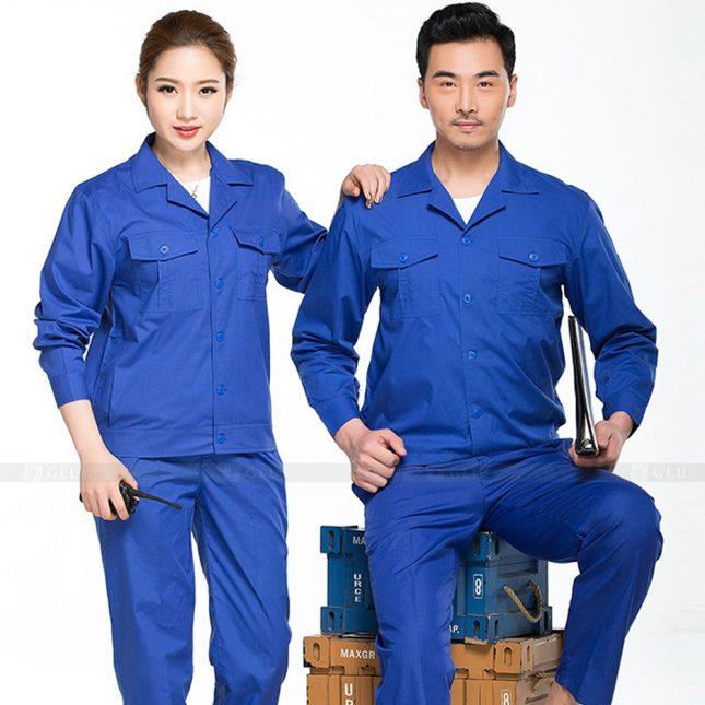 Quan ao dong phuc bao ho GLU X370 đồng phục công nhân xây dựng