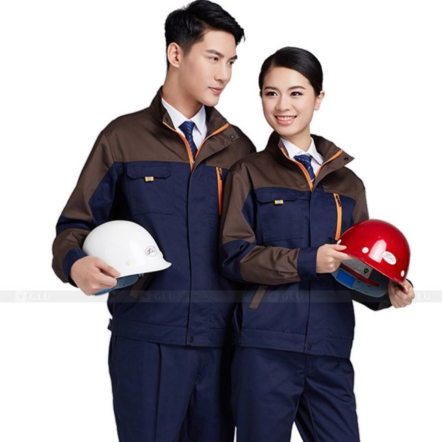 Quan ao dong phuc bao ho GLU X371 đồng phục công nhân xây dựng