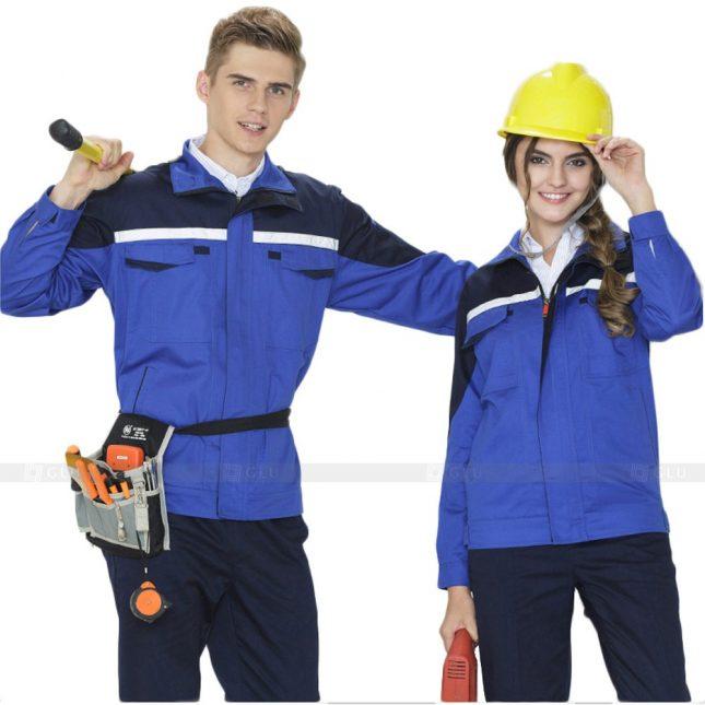 Quan ao dong phuc bao ho GLU X373 đồng phục công nhân xây dựng
