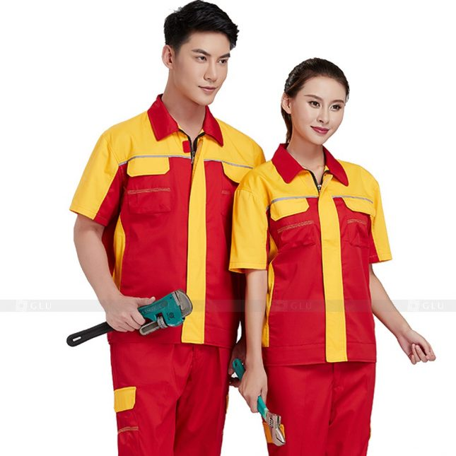 Quan ao dong phuc bao ho GLU X375 đồng phục công nhân xây dựng