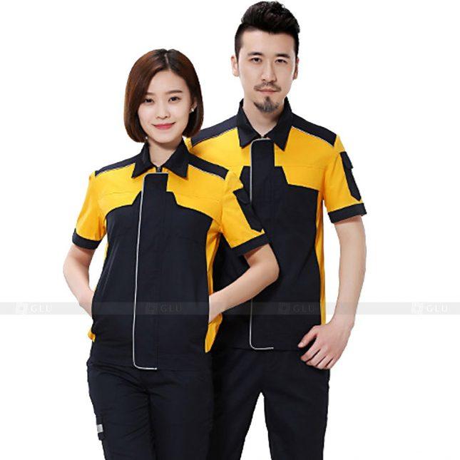 Quan ao dong phuc bao ho GLU X377 đồng phục công nhân xây dựng