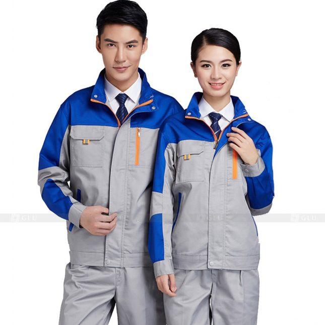 Quan ao dong phuc bao ho GLU X380 đồng phục công nhân xây dựng