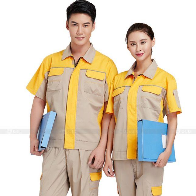 Quan ao dong phuc bao ho GLU X385 đồng phục công nhân xây dựng