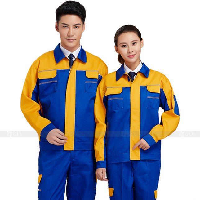 Quan ao dong phuc bao ho GLU X386 đồng phục công nhân xây dựng