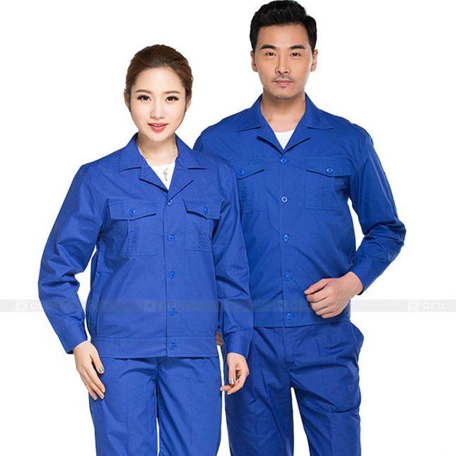 Quan ao dong phuc bao ho GLU X387 đồng phục công nhân xây dựng