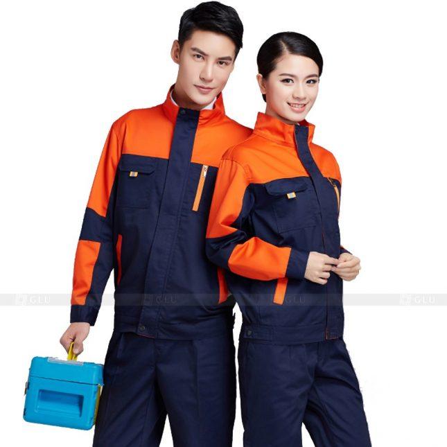 Quan ao dong phuc bao ho GLU X389 đồng phục công nhân xây dựng