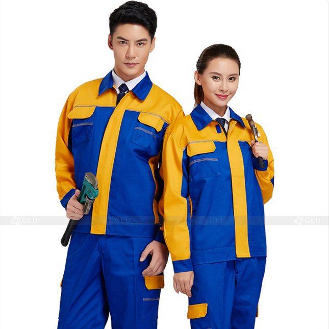 Quan ao dong phuc bao ho GLU X390 đồng phục công nhân xây dựng