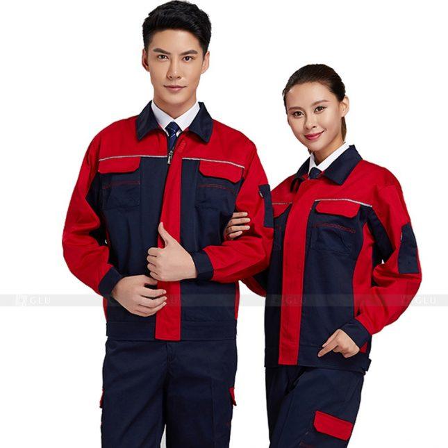 Quan ao dong phuc bao ho GLU X393 đồng phục công nhân xây dựng