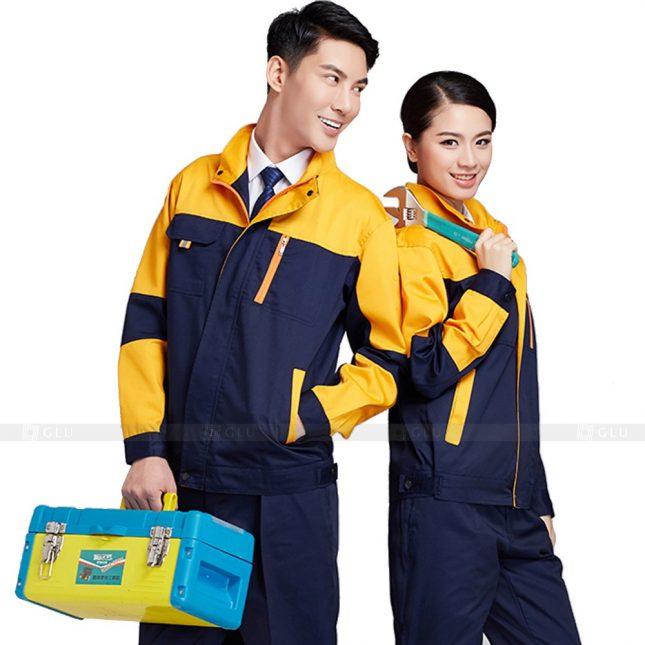 Quan ao dong phuc bao ho GLU X394 đồng phục công nhân xây dựng