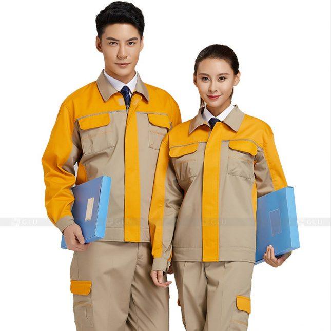 Quan ao dong phuc bao ho GLU X397 đồng phục công nhân xây dựng