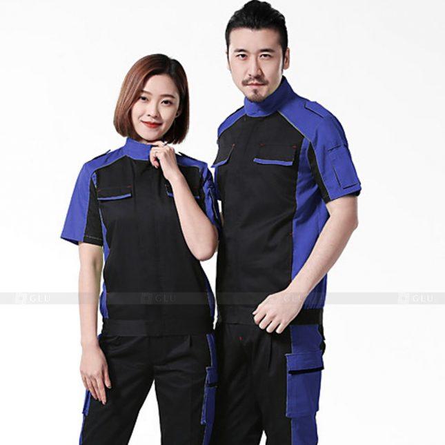 Quan ao dong phuc bao ho GLU X399 đồng phục công nhân xây dựng