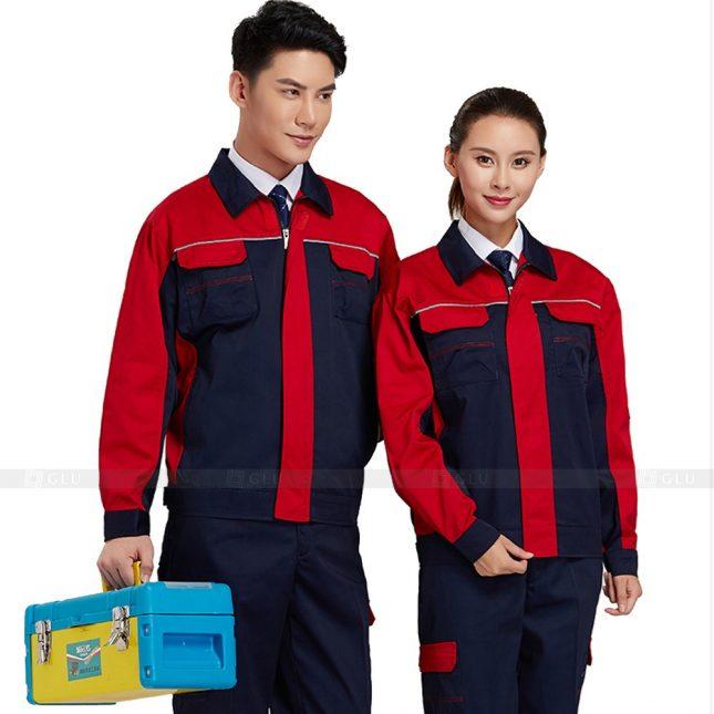 Quan ao dong phuc bao ho GLU X401 đồng phục công nhân xây dựng