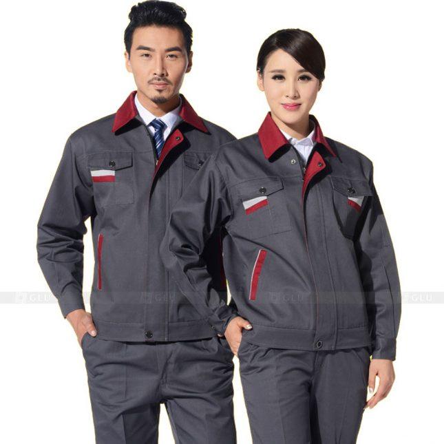 Quan ao dong phuc bao ho GLU X406 đồng phục công nhân xây dựng
