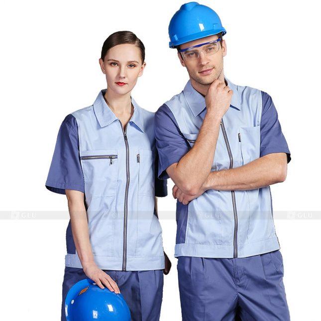 Quan ao dong phuc bao ho GLU X407 đồng phục công nhân xây dựng