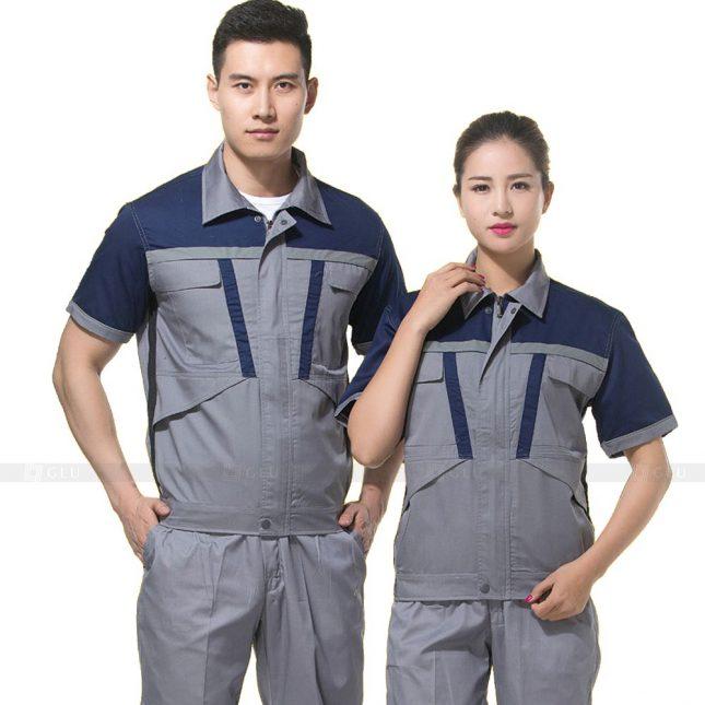 Quan ao dong phuc bao ho GLU X408 đồng phục công nhân xây dựng