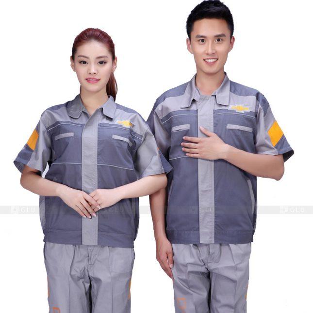Quan ao dong phuc bao ho GLU X411 đồng phục công nhân xây dựng