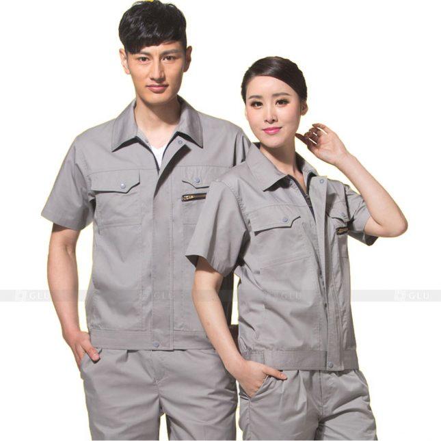 Quan ao dong phuc bao ho GLU X413 đồng phục công nhân xây dựng